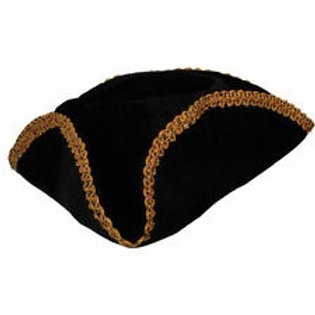 Pirate hat - Black w/gold Braid trim AC-9126 W