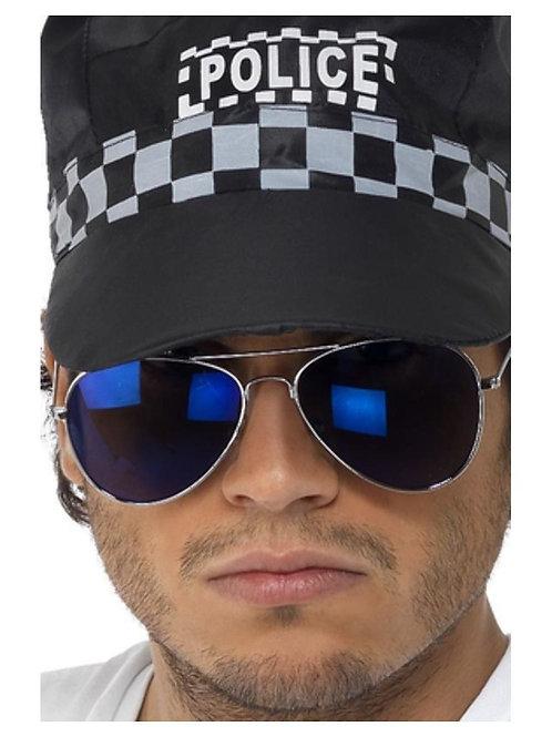 Aviator Specs, Blue Mirror, Silver, Silver Frame. 34727 S