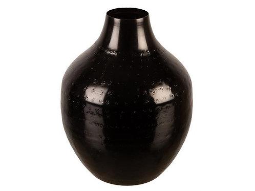 Vase metall sort 15x18cm Varenr:112081