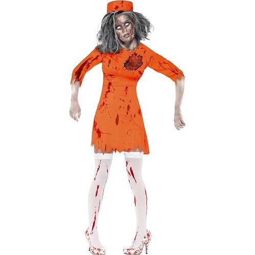 Zombie Death Row Diva, Orange, with Dress and Hat SKU: 40053