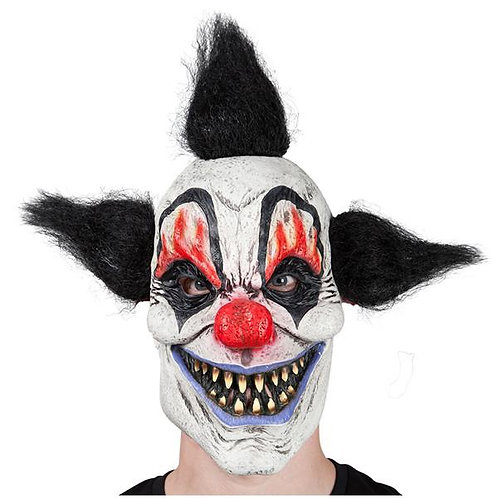 Latex Mask - Crazy Clown. MK-9884 Wicked
