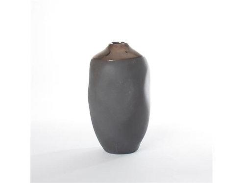 Vase Keramikk Grå/Gull 10X9X12Cm