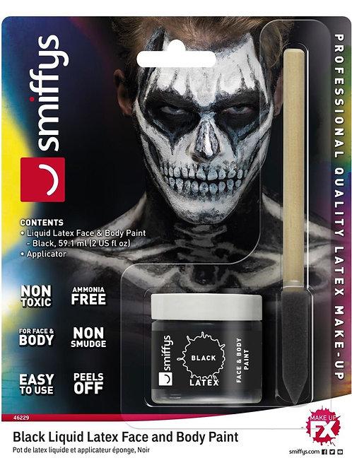 Smiffys Make-Up FX, Black Liquid Latex Kit. 46229 S