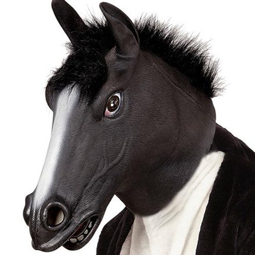 """""""BLACK HORSE FULL HEAD MASK WITH PLUSH HAIR. 96651 WIDMANN"""