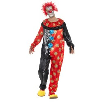 Deluxe Day of the Dead Clown Costume 44936 S