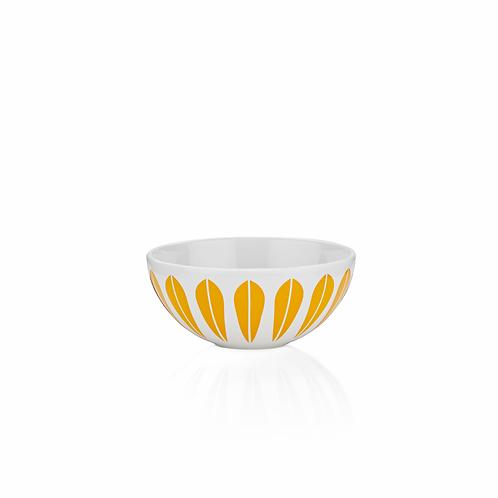 Lotus skål 12cm, hvit/orange