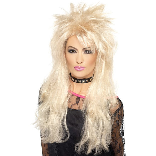 80'S Long Mullet Wig,Blonde
