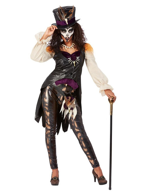 Deluxe Voodoo Witch Doctor Costume, Black. 63015 Smiffys