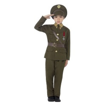 Army Officer Costume, Jacket with Attached Belt 27536 S