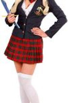 """COLLEGE GIRL"" (jacket, tie top, skirt, ti... 7629S W"
