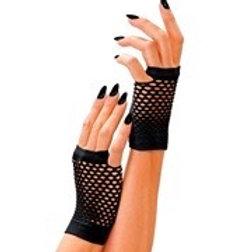 Black Fingerless Fishnet Gloves. 1487K W