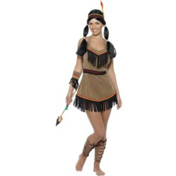 Native American Inspired Woman Costume, Brown SKU: 31882