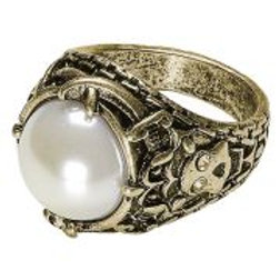 """GOLD RING WITH PEARL"""" 46741 W"""