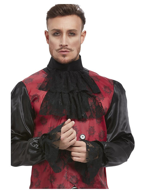 Cravat & Cuff Set, Black. 11951 Smiffys