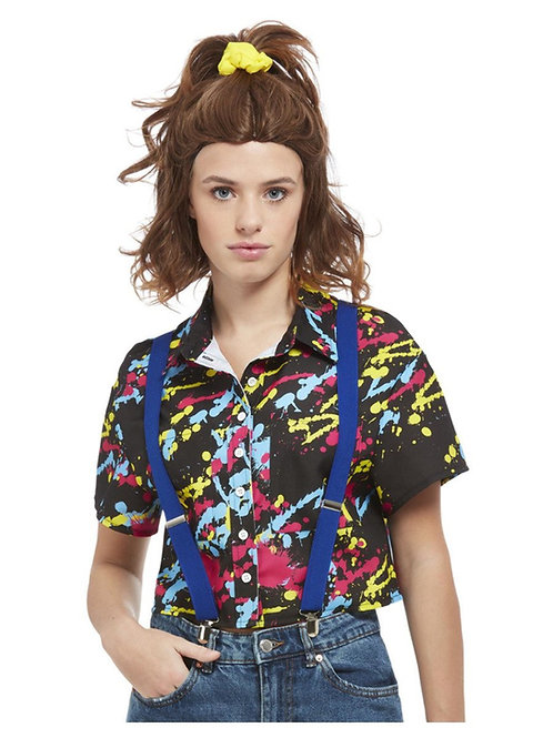 80s Paint Splatter Print Shirt. 11946 Smiffys