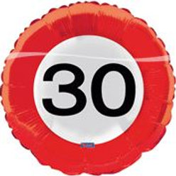 17In/43cm Traffic Sign 30 F 28530
