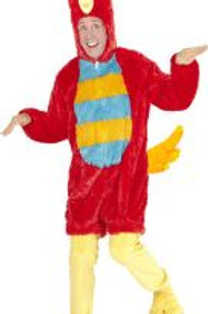 """""""RED BIRD IN SOFT PLUSH"""" (hooded jumpsuit .. 97159 W"""