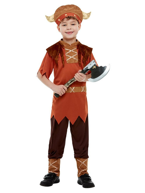 Viking Costume, Brown, with Top, Trousers & Hat. 38665 S