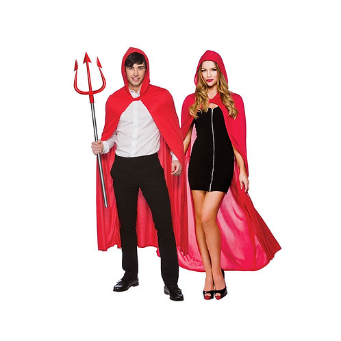 Adult Hooded Cape 132cm - RED HF-5095 W