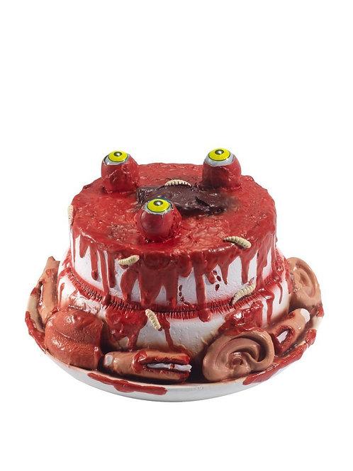 Latex Gory Gourmet Zombie Cake Prop.