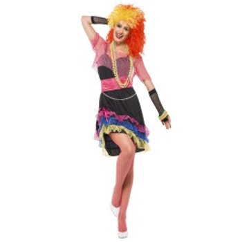 80's Fun Girl Costume, with Dress, Top and Belt 43931 S