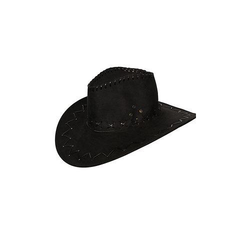 Black Suede Cowboy Hat AC-9103 W