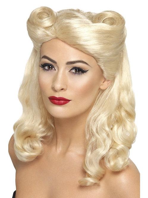 40s Pin Up Wig. 43215 Smiffys