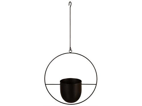 Potte henge sort metall 34/14cm h:34cm Totalhøyde:65cm Varenr:115324