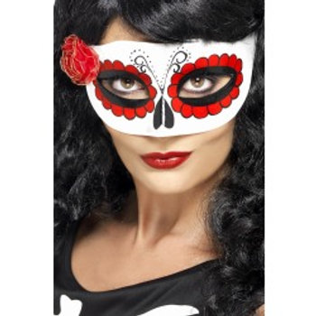 Mexican Day Of The Dead Eyemask, with Rose 27854 S