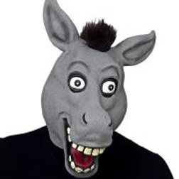 """BIG EYES DONKEY FULL HEAD MASK WITH PLUSH... W 03301"