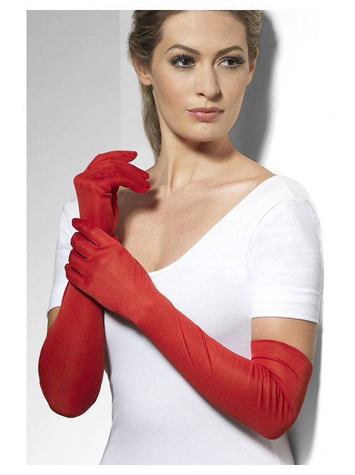 Gloves, Red, Long. 44038 S