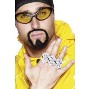 3 In 1 Dollar Rapper Ring, Silver 22350 S