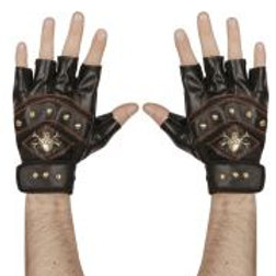 """Pair of leather look """"STUDDED FINGERLESS S... W 95704"""