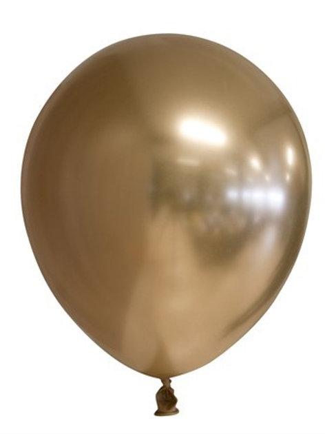 """BALLOONS 12"""" MIRROR GOLD 6-P (6) 64427 JOKER"""