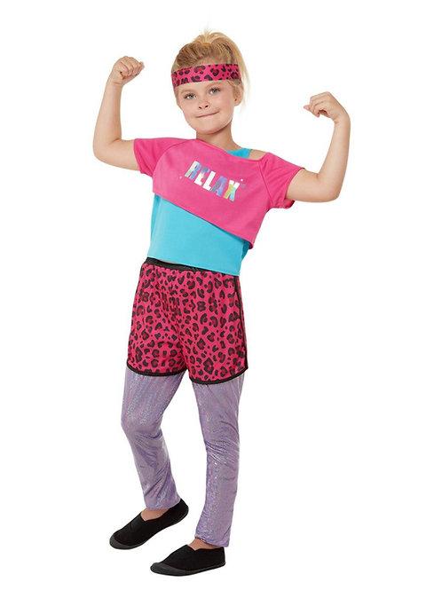 Girls 80s Relax Costume. 71070 Smiffys