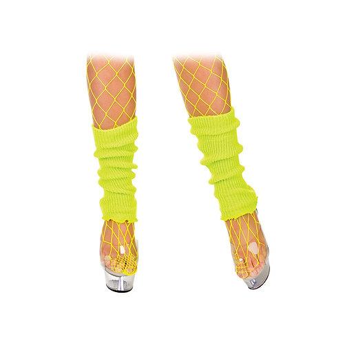 80's Leg Warmers Neon YELLOW. TS-7091 Wicked
