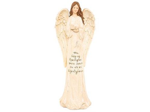 Engel Tro, håp,kjær. beige/gull 40cm Varenr:108882