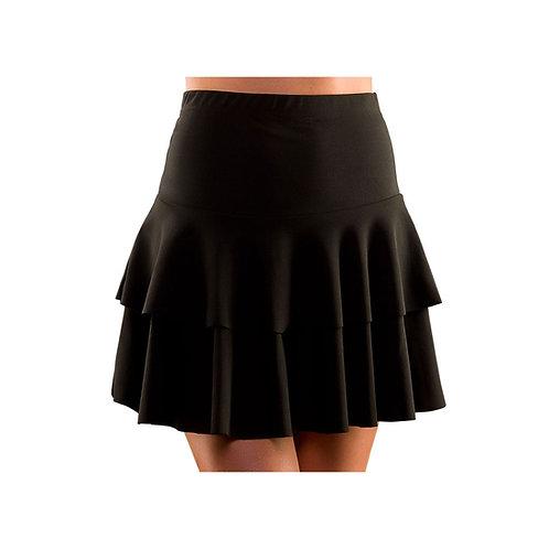 80's Neon Ra Ra Skirt - BLACK EF-2257 W