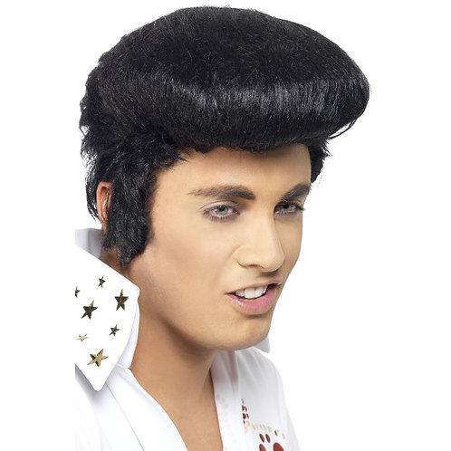 Elvis Deluxe Wig,Black. 42101 Smiffys