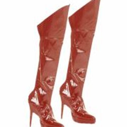 """""""RED BOOT TOPS"""" vinyl (with stretch fabric... W 3482R"""