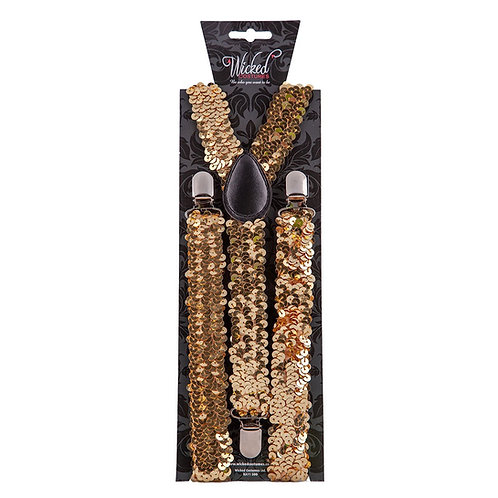 Braces - Gold Sequin. AC-9369 Wicked