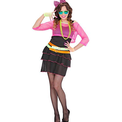 """80's GROUPIE GIRL"" (dress, mesh shirt, belt, bow eadband)"