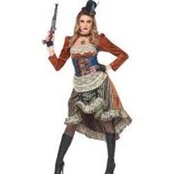 """STEAMPUNK"" (dress with choker, fingerless... W 08071"