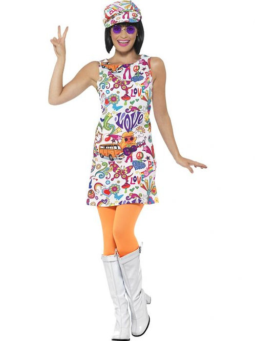 60s Groovy Chick Costume SKU 44911