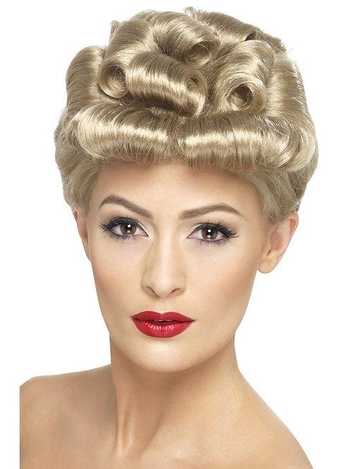 40s Vintage Wig, Blonde. 29608 Smiffys