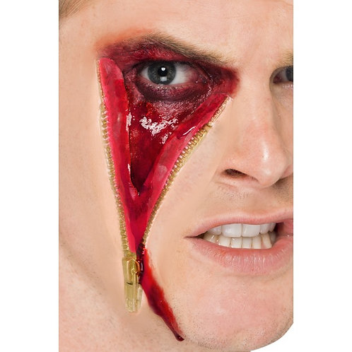 Zip Face Scar, Latex, On Display Card SKU: 45323