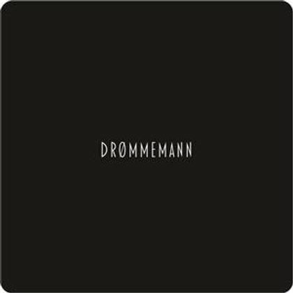 Glassbrikke 10x10cm sort/hvit Drømmemann MDF