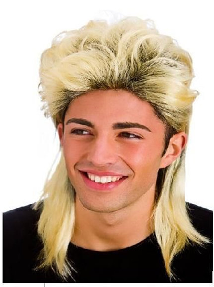 Mullet Wig Blonde. EW-8190 Wicked