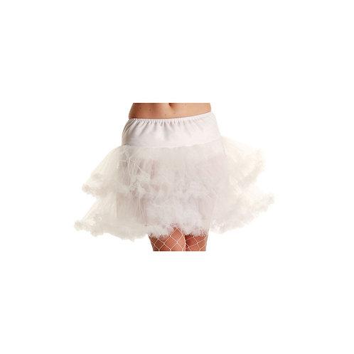 3 Layer Ruffle Petticoat / White. TS-7129 Wicked