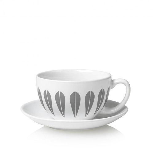 Lotus teacup and saucer